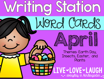 Writing Station {Word Cards} April