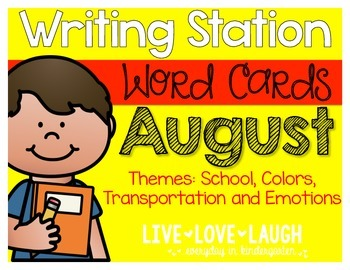 Writing Station {Word Cards} August