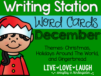 Writing Station {Word Cards} December