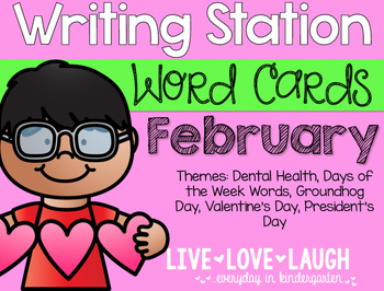 Writing Station {Word Cards} February