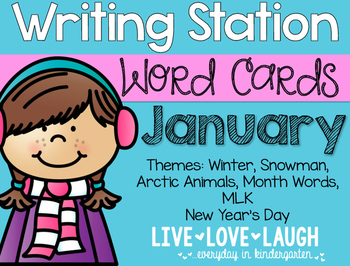 Writing Station {Word Cards} January