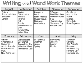 Writing Station {Word Cards} March