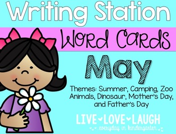 Writing Station {Word Cards} May