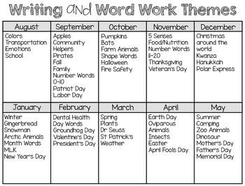 Writing Station {Word Cards} November