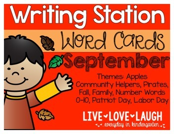 Writing Station {Word Cards} September