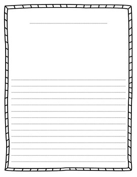 Writing Stationary with Border