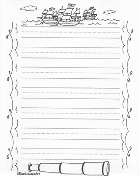 Writing Stationery Templates (Autumn Holidays)