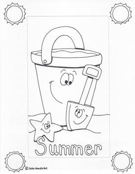 Writing Stationery Templates (Summer Holidays)