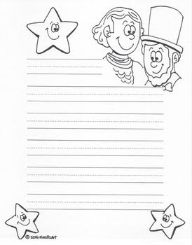 Writing Stationery Templates (Winter Holidays)
