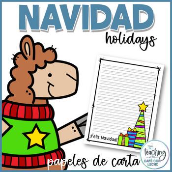 Writing Stationery in Spanish - Papeles de carta de Navidad