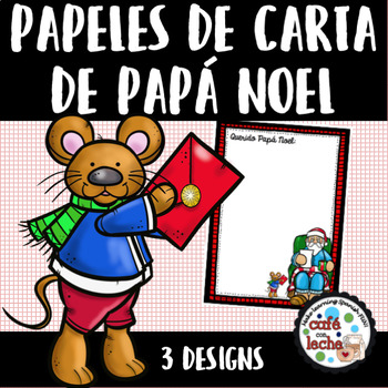 Writing Stationery in Spanish - Papeles de carta de Papá Noel