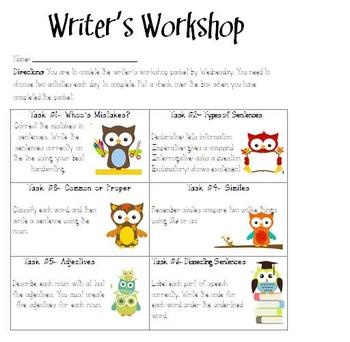 Writing Stations