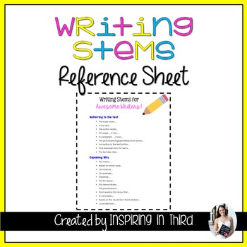 Writing Stems for Awesome Writers