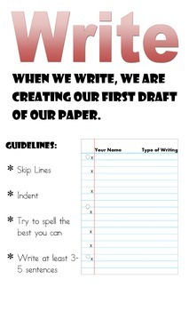 Writing Steps Poster