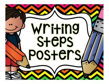 Writing Steps Posters {Color Backgrounds}