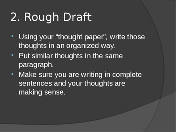 Writing Steps Power point