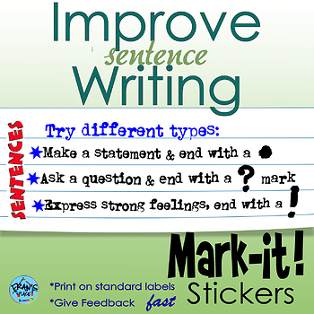 Writing Sticker for Sentence Writing and Punctuation
