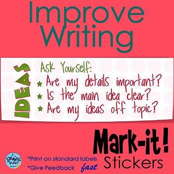 Writing Sticker for Writing Assessment: Main Ideas