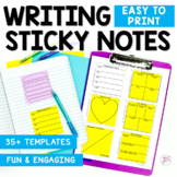 Writing Graphic Organizer Sticky Notes