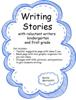 Writing Stories with reluctant young writers