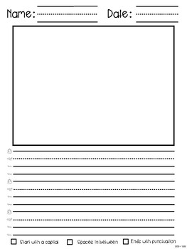 Writing Stories Template Page