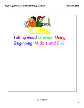 Writing Stories with a Beginning, Middle and End