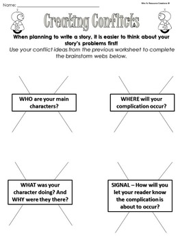 Narrative Writing - Writing Conflicts Lesson Pack