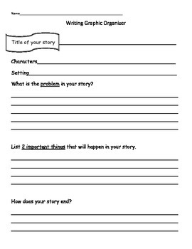 Writing Story Map Graphic Organizer