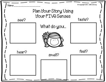Writing Strategies-*5 Senses*:Tip sheet, Posters,Organizers, Poetry & Activities