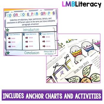 Writing Strategies Bundle! Quick Writing, Color Coding, Five Senses, Organizing