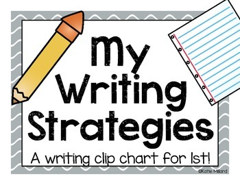 Writing Strategies Clip Chart - Colorful (K or 1st)