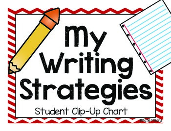 Writing Strategies Clip Chart - Red & Baby Blue
