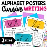 Writing Strategies Cursive Alphabet Posters