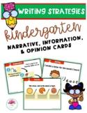 Writing Strategies Kindergarten Cards (Narrative, Informat