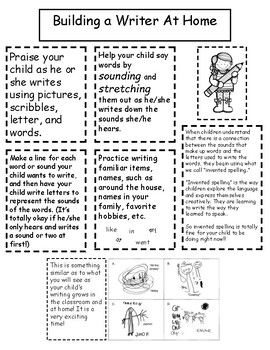 Writing Strategies - Letter to Parent