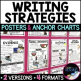 Writing Strategies Posters, Anchor Charts & Writer's Notebook Sheets