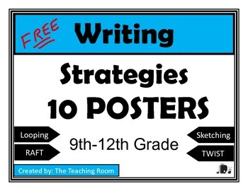 Writing Strategies Posters - High School
