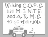Writing Strategies Printables Set Black and White