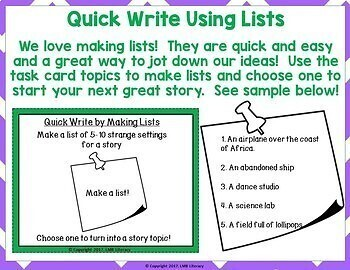 Writing Strategies-Quick Writing With Task Cards