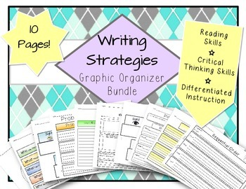 Writing Graphic Organizers ELA Bundle - Strategies & Skills