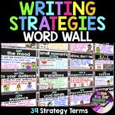 Writing Strategies Word Wall ~ 39 Writing Strategies Poste