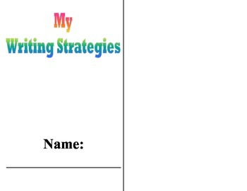 Writing Strategies at a Glance Booklet