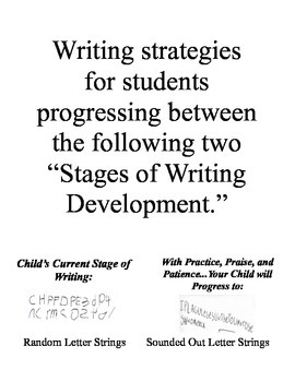 Writing Strategies at a Glance for Pocket Chart