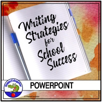 Back to School Writing Strategies PowerPoint with Practice Activities