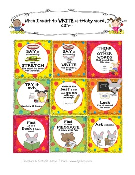 Writing Strategies for Young Writers--Posters for Independence
