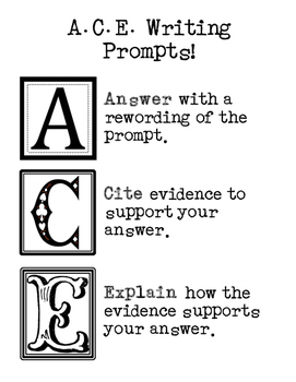 Writing Strategy: A.C.E. Poster or Handout