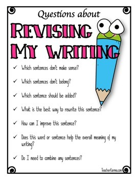 Writing Strategy ~ FREE Revising and Editing ~ Composition