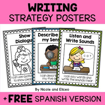 Writing Anchor Charts - Beginner Writer Strategies