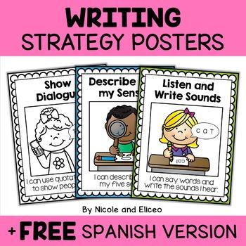 Beginner Writing Strategies Anchor Charts