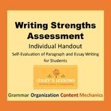 Writing Strengths Assessment Individual Handout